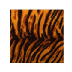 Animal Background Cat Cheetah Coat Small Satin Scarf (square)
