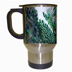 Animal Photography Peacock Bird Travel Mugs (white)
