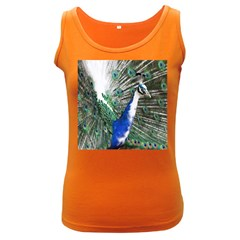 Animal Photography Peacock Bird Women s Dark Tank Top