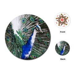 Animal Photography Peacock Bird Playing Cards (round)