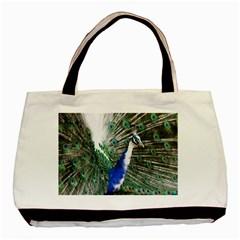 Animal Photography Peacock Bird Basic Tote Bag