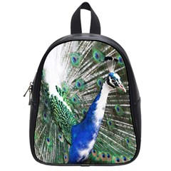 Animal Photography Peacock Bird School Bags (small)