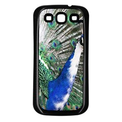 Animal Photography Peacock Bird Samsung Galaxy S3 Back Case (black)