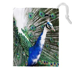 Animal Photography Peacock Bird Drawstring Pouches (xxl)