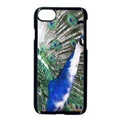 Animal Photography Peacock Bird Apple Iphone 7 Seamless Case (black)