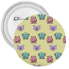 Animals Pastel Children Colorful 3  Buttons