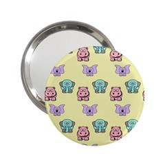 Animals Pastel Children Colorful 2.25  Handbag Mirrors