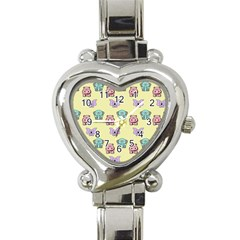 Animals Pastel Children Colorful Heart Italian Charm Watch