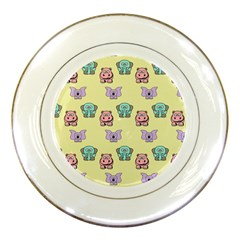 Animals Pastel Children Colorful Porcelain Plates