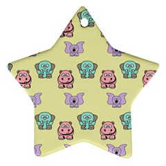 Animals Pastel Children Colorful Star Ornament (two Sides)