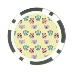 Animals Pastel Children Colorful Poker Chip Card Guard