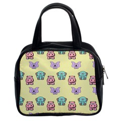 Animals Pastel Children Colorful Classic Handbags (2 Sides)