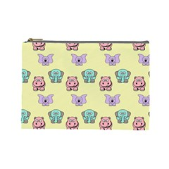 Animals Pastel Children Colorful Cosmetic Bag (Large)