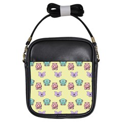Animals Pastel Children Colorful Girls Sling Bags