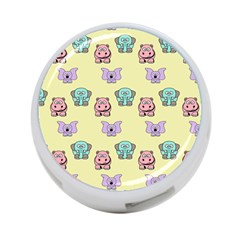 Animals Pastel Children Colorful 4 Port Usb Hub (two Sides)