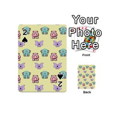 Animals Pastel Children Colorful Playing Cards 54 (mini)