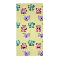 Animals Pastel Children Colorful Shower Curtain 36  X 72  (stall)