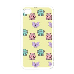 Animals Pastel Children Colorful Apple Iphone 4 Case (white)