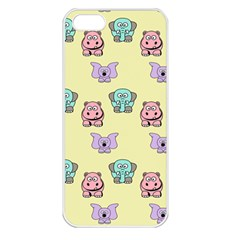 Animals Pastel Children Colorful Apple Iphone 5 Seamless Case (white)