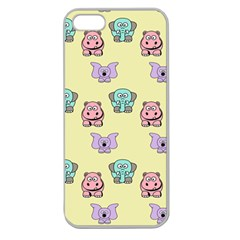 Animals Pastel Children Colorful Apple Seamless Iphone 5 Case (clear)