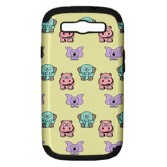 Animals Pastel Children Colorful Samsung Galaxy S Iii Hardshell Case (pc+silicone)