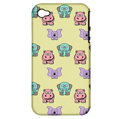 Animals Pastel Children Colorful Apple Iphone 4/4s Hardshell Case (pc+silicone)