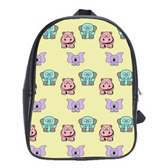 Animals Pastel Children Colorful School Bags (xl)