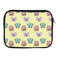 Animals Pastel Children Colorful Apple Ipad 2/3/4 Zipper Cases