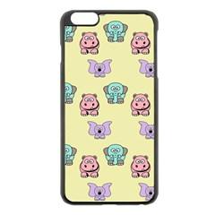 Animals Pastel Children Colorful Apple Iphone 6 Plus/6s Plus Black Enamel Case