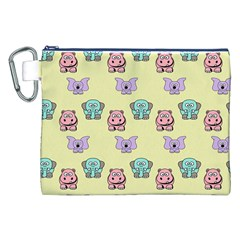 Animals Pastel Children Colorful Canvas Cosmetic Bag (xxl)