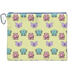 Animals Pastel Children Colorful Canvas Cosmetic Bag (xxxl)