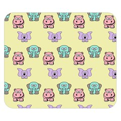 Animals Pastel Children Colorful Double Sided Flano Blanket (small)