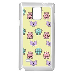 Animals Pastel Children Colorful Samsung Galaxy Note 4 Case (white)