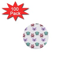 Animals Pastel Children Colorful 1  Mini Buttons (100 Pack)