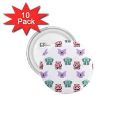 Animals Pastel Children Colorful 1 75  Buttons (10 Pack)