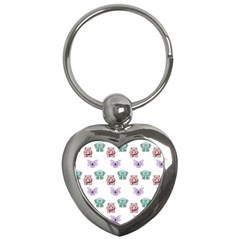 Animals Pastel Children Colorful Key Chains (heart)