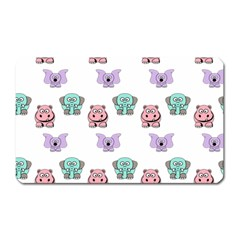 Animals Pastel Children Colorful Magnet (rectangular)
