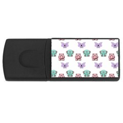 Animals Pastel Children Colorful USB Flash Drive Rectangular (1 GB)