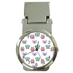 Animals Pastel Children Colorful Money Clip Watches