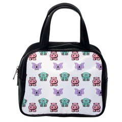 Animals Pastel Children Colorful Classic Handbags (one Side)