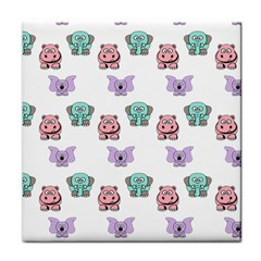 Animals Pastel Children Colorful Face Towel