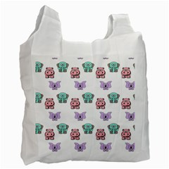 Animals Pastel Children Colorful Recycle Bag (two Side)