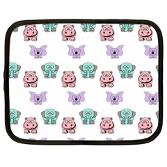 Animals Pastel Children Colorful Netbook Case (xl)