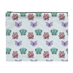 Animals Pastel Children Colorful Cosmetic Bag (xl)