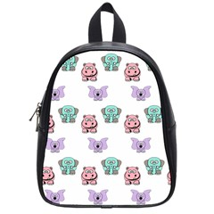 Animals Pastel Children Colorful School Bags (small)