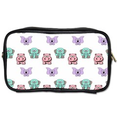 Animals Pastel Children Colorful Toiletries Bags 2 Side