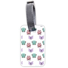 Animals Pastel Children Colorful Luggage Tags (One Side)