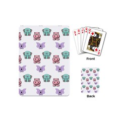 Animals Pastel Children Colorful Playing Cards (mini)