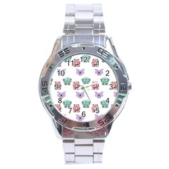 Animals Pastel Children Colorful Stainless Steel Analogue Watch