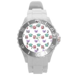 Animals Pastel Children Colorful Round Plastic Sport Watch (l)
